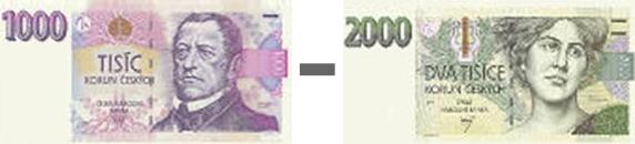 1000,- až 2000,- Kč