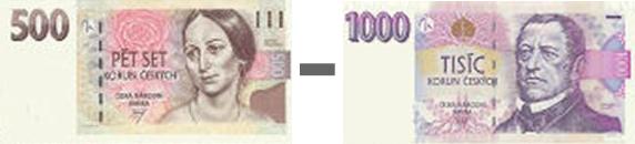 500,- až 1000,- Kč