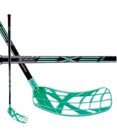 Florbalová hokejka EXEL X-PLAY BLACK-MINT 2.6 101 SB