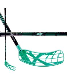 Florbalová hokejka EXEL X-PLAY BLACK-MINT 2.9 SB