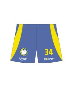 FREEZ SHORTS SUBLI coolmax MAN - FLORBAL JABLONEC 21 - blue/yellow