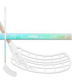 Florbalová hokejka ZONE STICK ZUPER AL 27 holographic/white