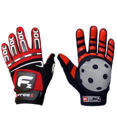 Brankářské florbalové rukavice FREEZ G-180 GOALIE GLOVES red senior
