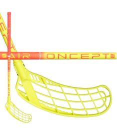Florbalová hokejka ZONE STICK FORCE AIR JR 35 coral/yellow 80cm