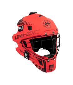 Brankářská florbalová maska UNIHOC GOALIE MASK INFERNO 44 neon red/black