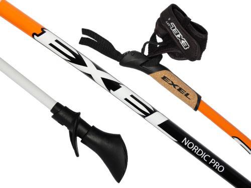 EXEL NORDIC PRO CURVE orange/black/white - hůlky