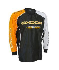 Brankářský florbalový dres OXDOG TOUR GOALIE SHIRT BLACK/OR, no padding 150/160