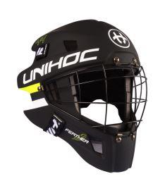 Brankářská florbalová maska UNIHOC GOALIE HELMET Feather 44 black SR