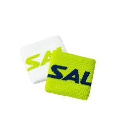 Sportovní potítko SALMING Wristband Short 2-pack Green/White