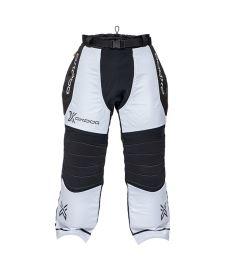Brankářské florbalové kalhoty OXDOG TOUR+ GOALIE PANTS white/black  150/160