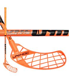Florbalová hokejka UNIHOC STICK UNITY CURVE 1.5o 35 neon orange 92cm