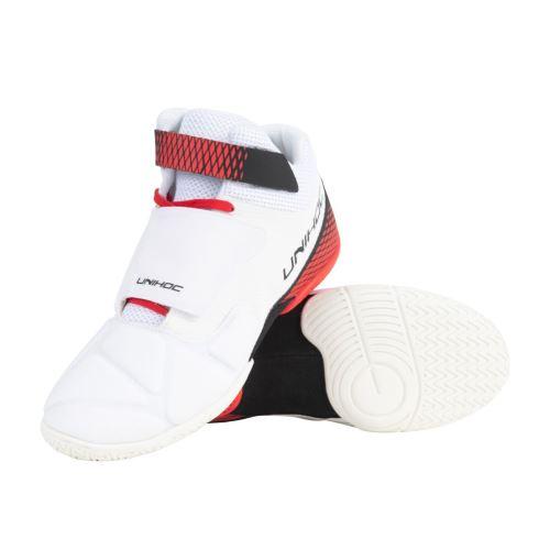 UNIHOC Shoe U4 Goalie white/red US12 /UK11 / EUR46 - Obuv