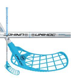 Florbalová hokejka UNIHOC STICK ICONIC Curve 1.5° 35 blue/silver 83cm