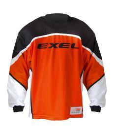 Brankářský florbalový dres EXEL S100 GOALIE JERSEY orange/black
