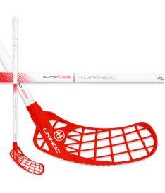 Florbalová hokejka UNIHOC STICK ICONIC SUPERSKIN MID 30 white/red