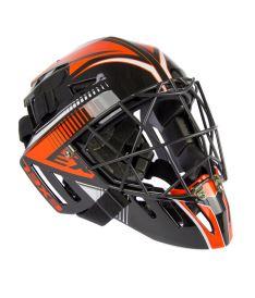 Brankářská florbalová maska EXEL S100 HELMET senior black/orange