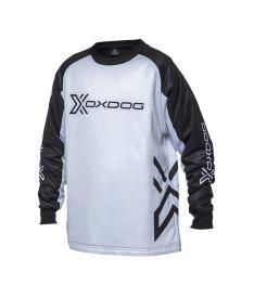 Brankářský florbalový dres OXDOG XGUARD GOALIE SHIRT JR black/white
