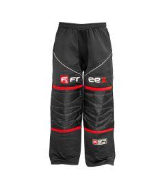 Brankářské florbalové kalhoty FREEZ Z-80 GOALIE PANT BLACK/RED senior