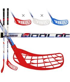 Florbalová hokejka WOOLOC FORCE 3.0 blue-red-white 101 ROUND