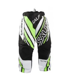 Brankářské florbalové kalhoty SALMING Phoenix Pant JR White/GeckoGreen