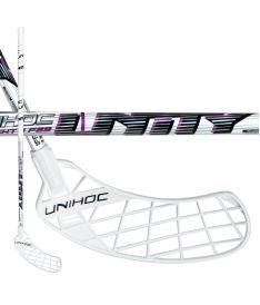 Florbalová hokejka UNIHOC STICK UNITY TOP LIGHT II 29 white/purple 100cm