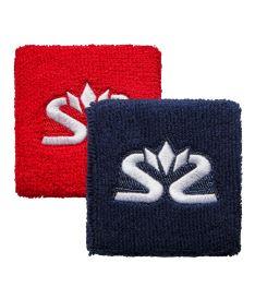 Sportovní potítko SALMING Wristband Short 2-pack Red/Blue