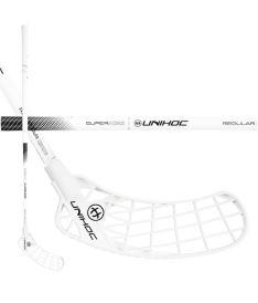 Florbalová hokejka UNIHOC STICK ICONIC SUPERSKIN Regular 26 white/black