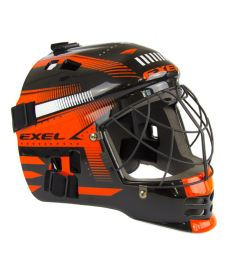 Brankářská florbalová maska EXEL S60 HELMET junior black/orange