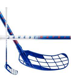 Florbalová hokejka SALMING Matrix 32 White/Navy 96(107)