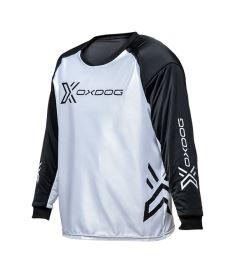 Brankářský florbalový dres OXDOG XGUARD GOALIE SHIRT white/black, padding  150/160