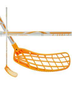Florbalová hokejka EXEL A-GAME WHITE-ORANGE 2.9 ROUND SB