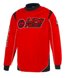 UNIHOC GOALIE SWEATER OPTIMA neon red/black