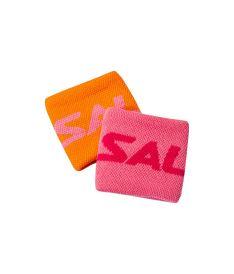 Sportovní potítko SALMING Wristband Short 2-pack Orange/Pink