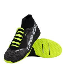 Florbalová obuv UNIHOC Shoe U5 PRO MidCut Men grey/yellow