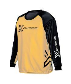 Brankářský florbalový dres OXDOG XGUARD GOALIE SHIRT apricot/black, padding  150/160