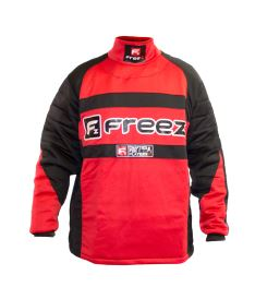 Brankařský florbalový dres FREEZ Z-80 GOALIE SHIRT BLACK/RED junior